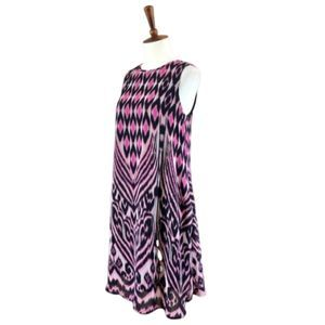 Taylor A-line Chiffon Dress Tribal Print Dress